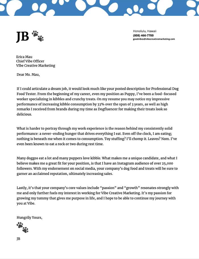 jb's cover letter