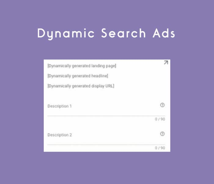 Screenshot of Dynamic Search Ad Form