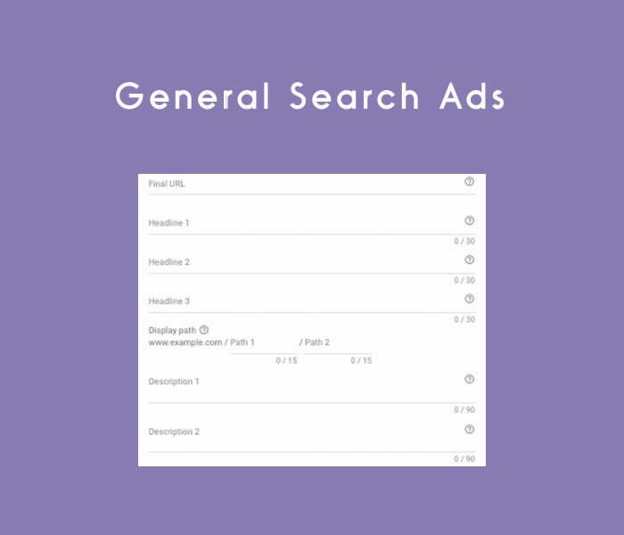 Screenshot of Search Ad Form