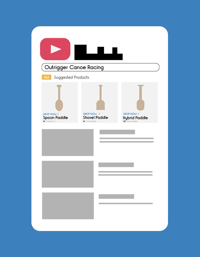 youtube shopping ads for canoe paddles