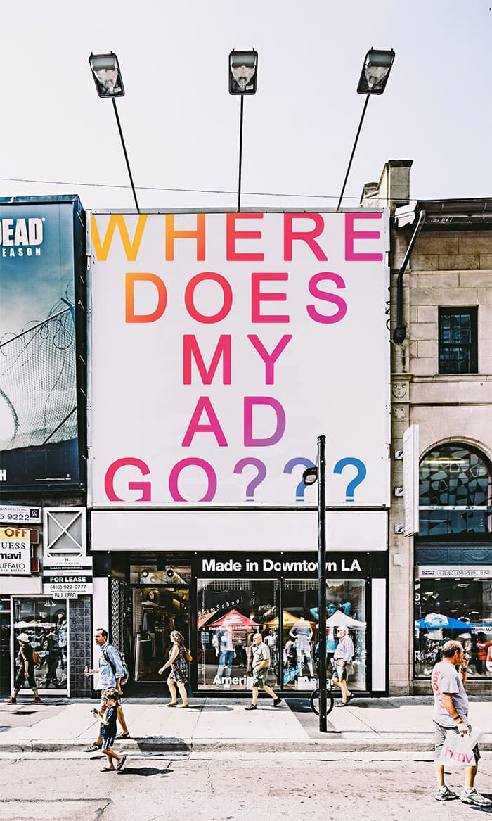 where does my ad go? billboard