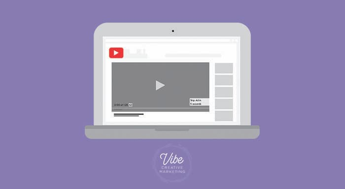 Youtube video ad on a laptop