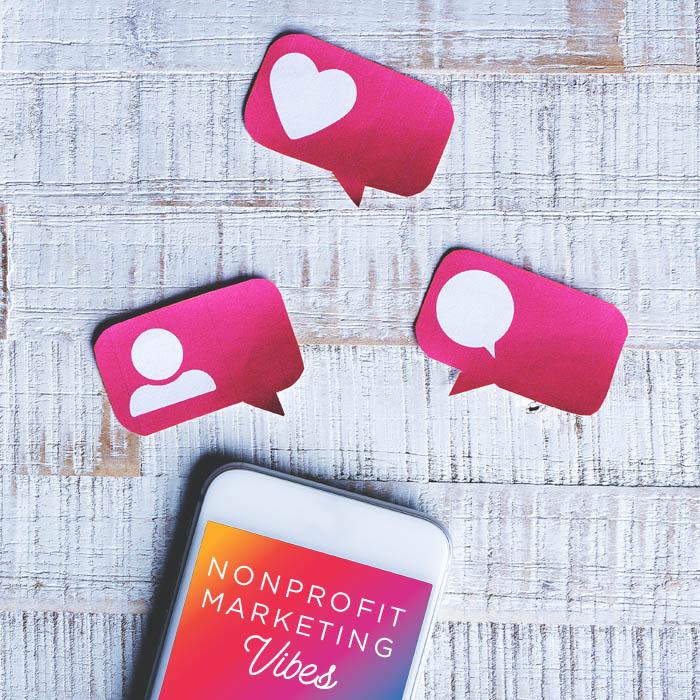 Nonprofit Social Media on a phone