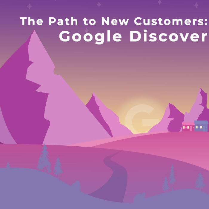 Mountains leading to a Google Sunset