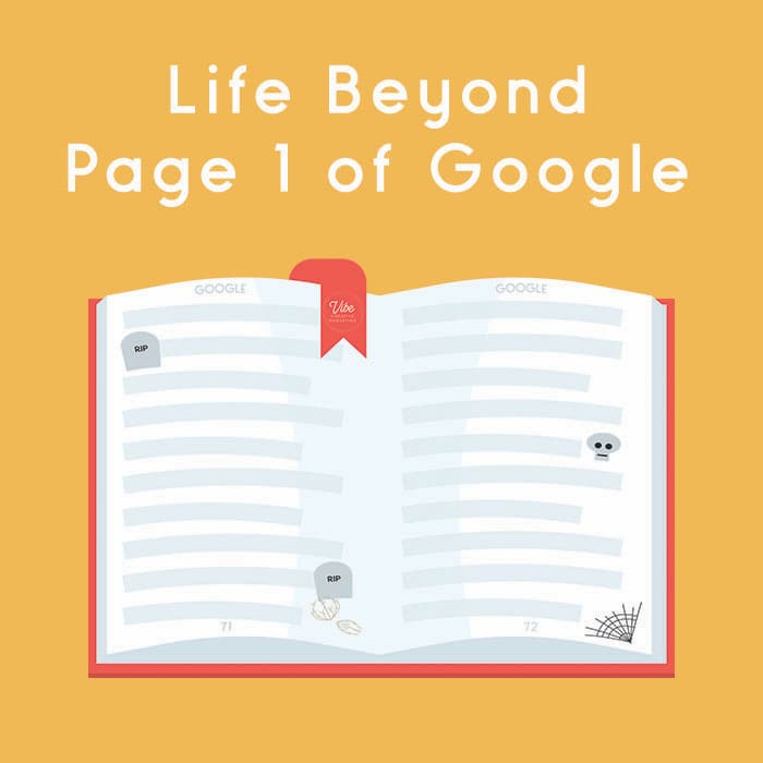 Pages of Google past page 1 that are full of cobwebs