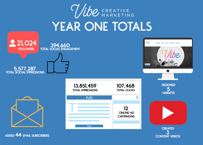 Vibe's Year 1 Stats