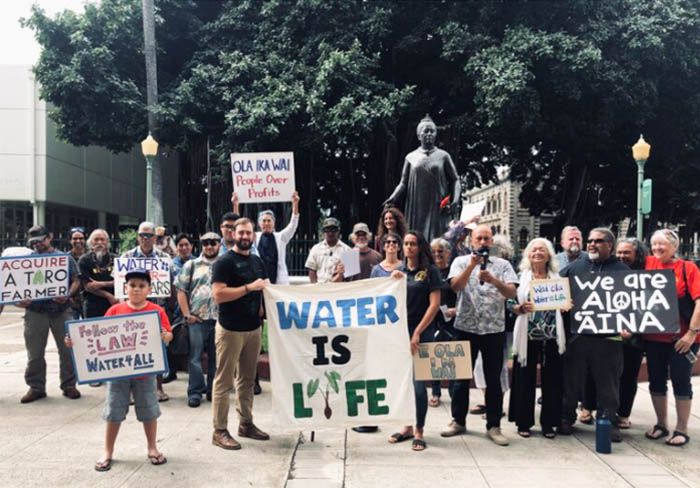 group rally advocating that water is life
