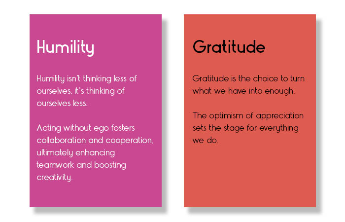 What humility and gratitude means to us