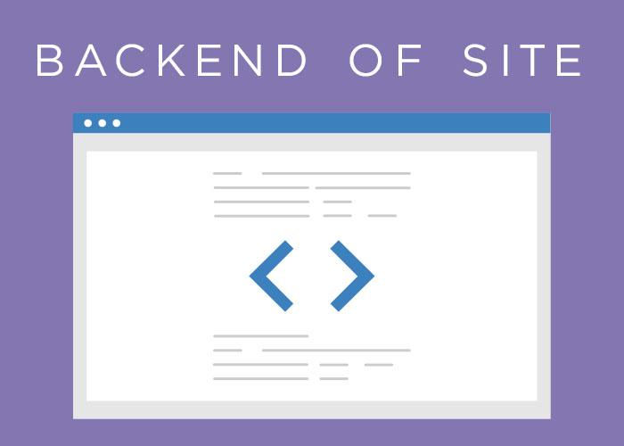 Back end website code