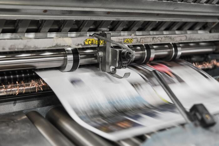 Image of newspaper printing press