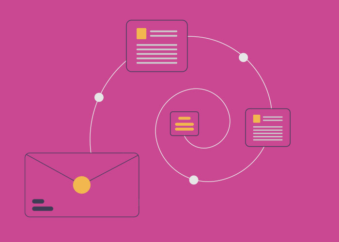 The journey of different email segments
