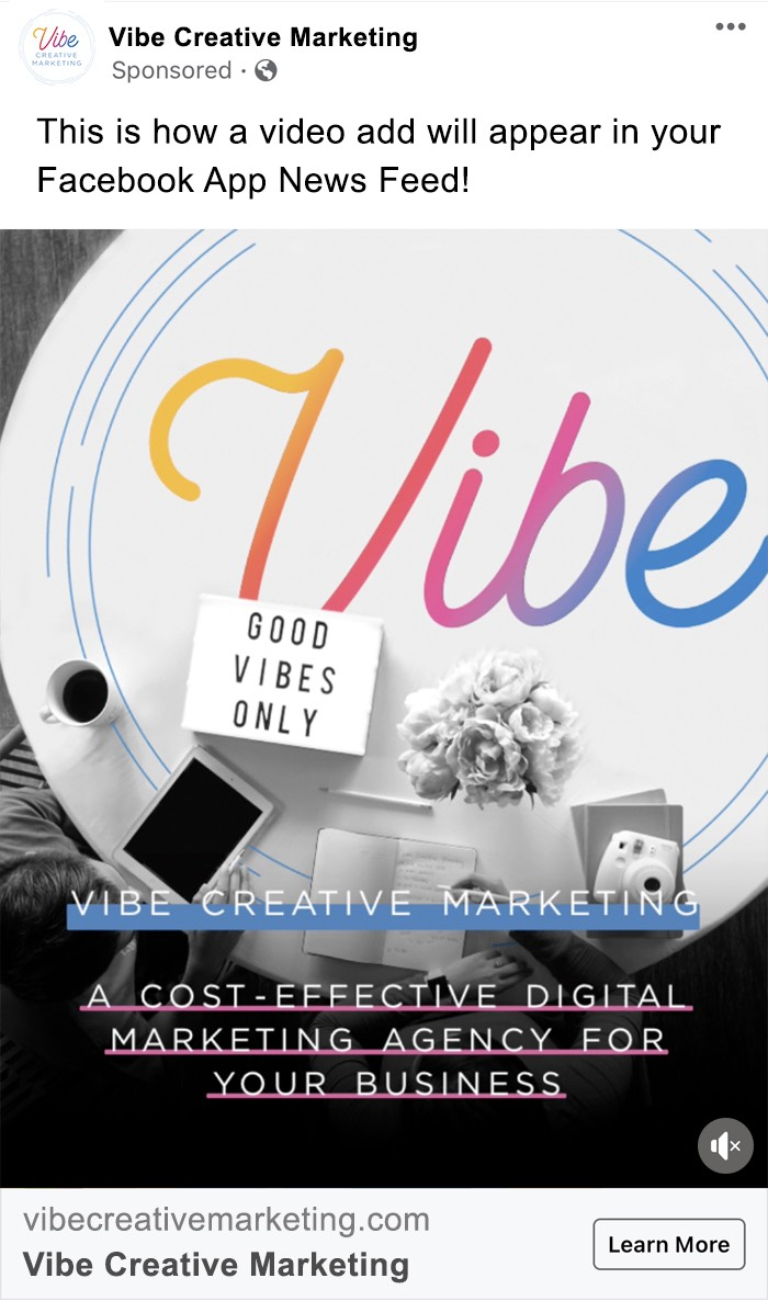 Video ad example of Vibe Creative Marketing