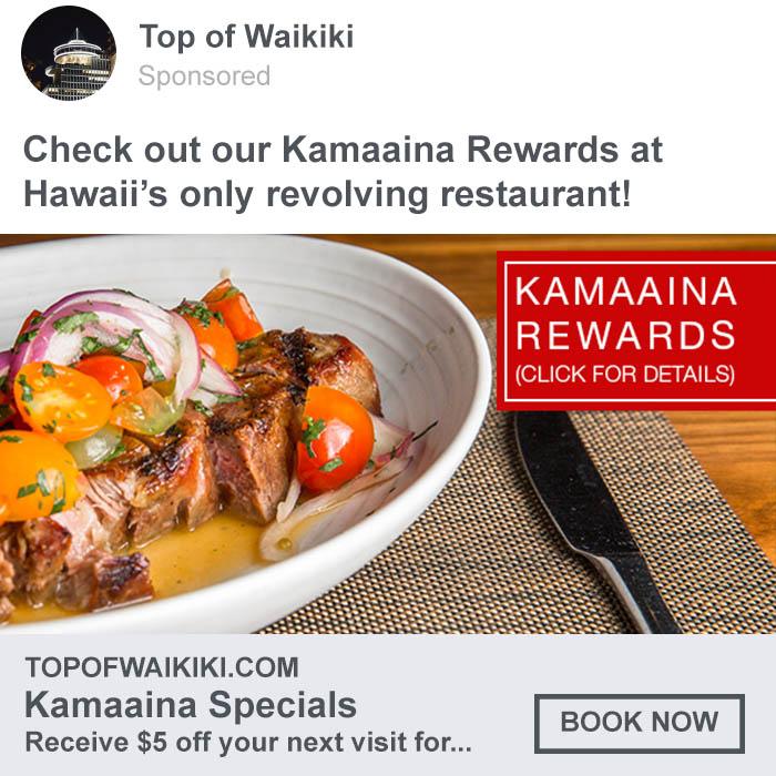 Top of Waikiki Facebook Ad