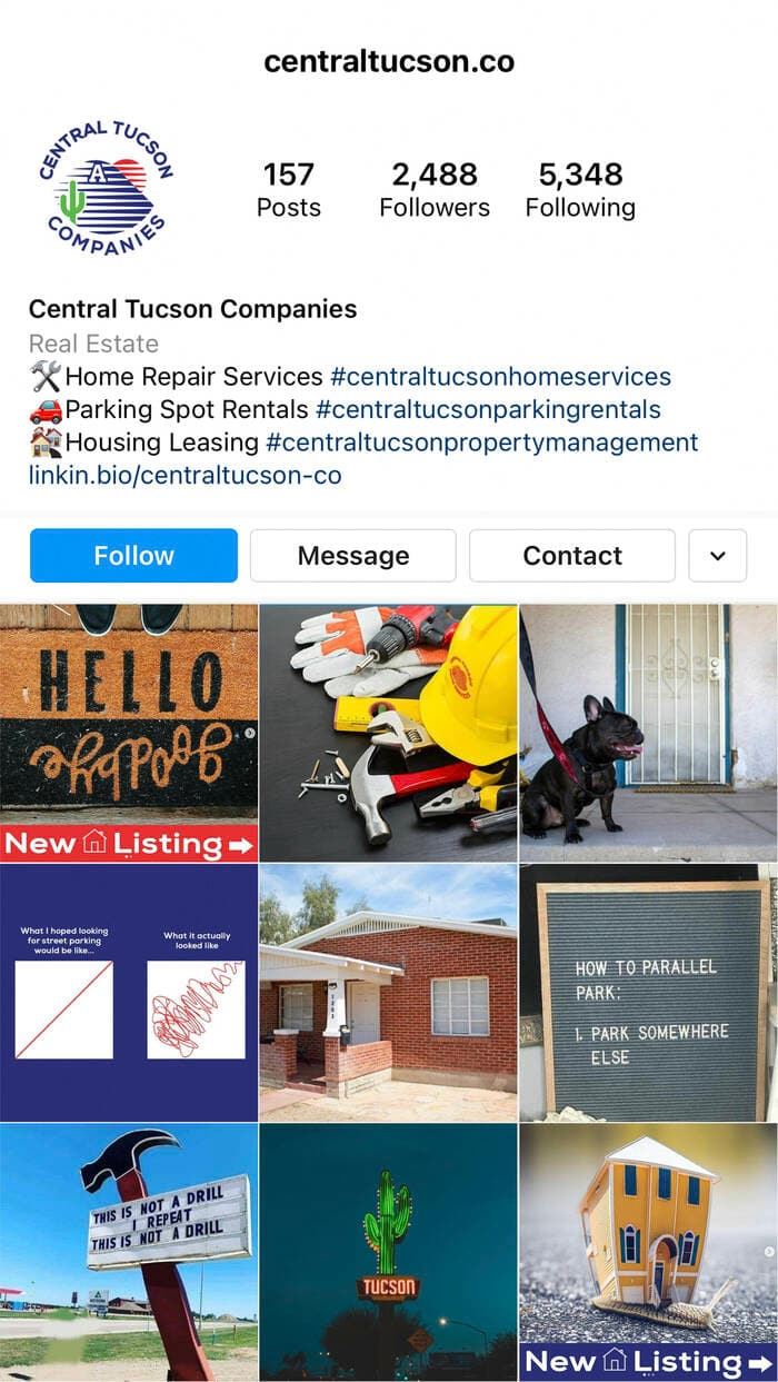 Central Tucson Companies Instagram Feed
