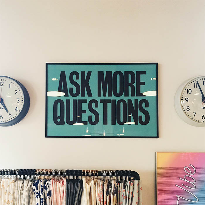 framed art: ask more questions