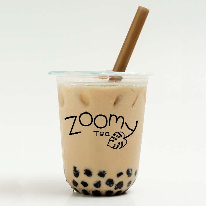 Zoomy Tea logo on a boba cup