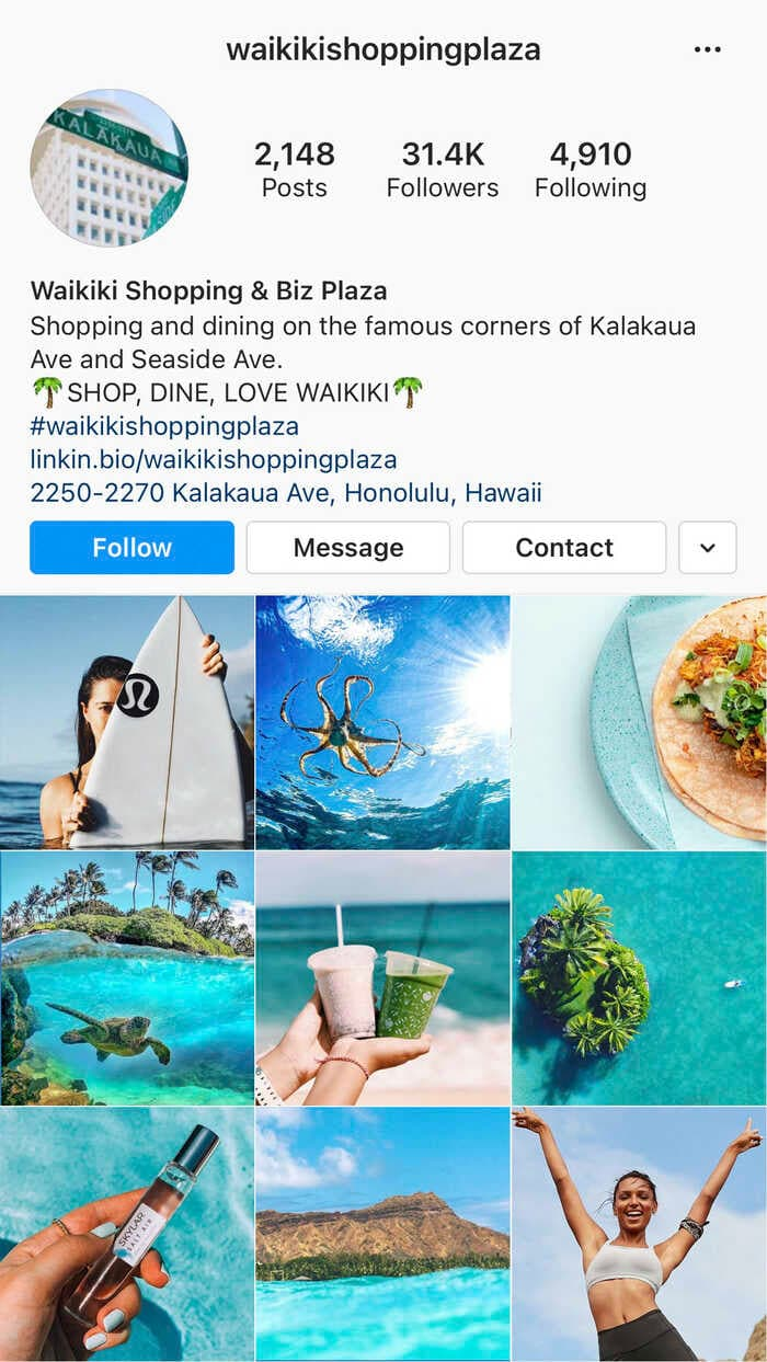 Waikiki Shopping Plaza Instagram Feed