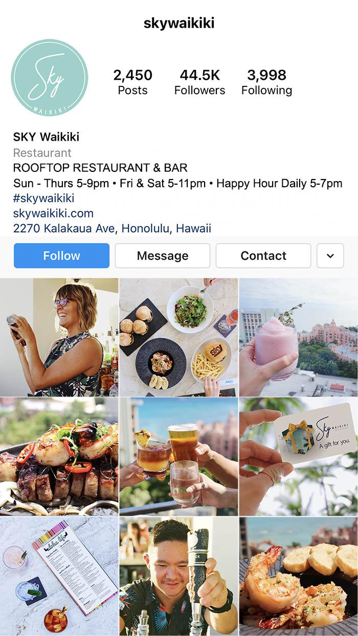 SKY Waikiki Instagram Feed